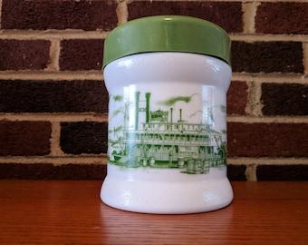 Vintage Collectible milk glass jar - 1960s