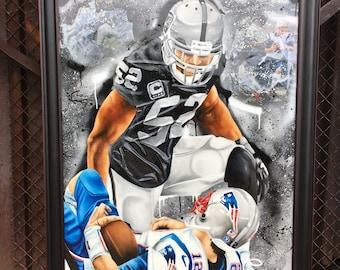 Khalil Mack painting