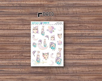 Night Owls Deco Stickers | ECLP | Happy Planner | Recollections Planner