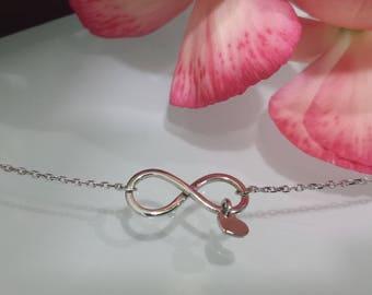 14kt Unique initial necklace , 14kt rose gold initial necklace , 14kt yellow gold initial necklace , 14kt white gold initial necklace heart