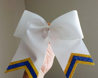 Yellow Gold and Blue Triple Sparkle Bow