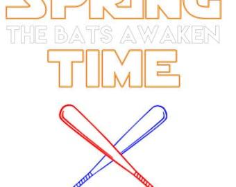 Spring Time The Bats Awaken SVG