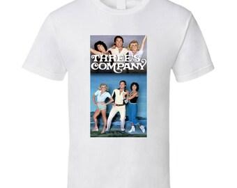 Three's Company Top 70's Vintage Tv Show Cool Retro Fan T Shirt