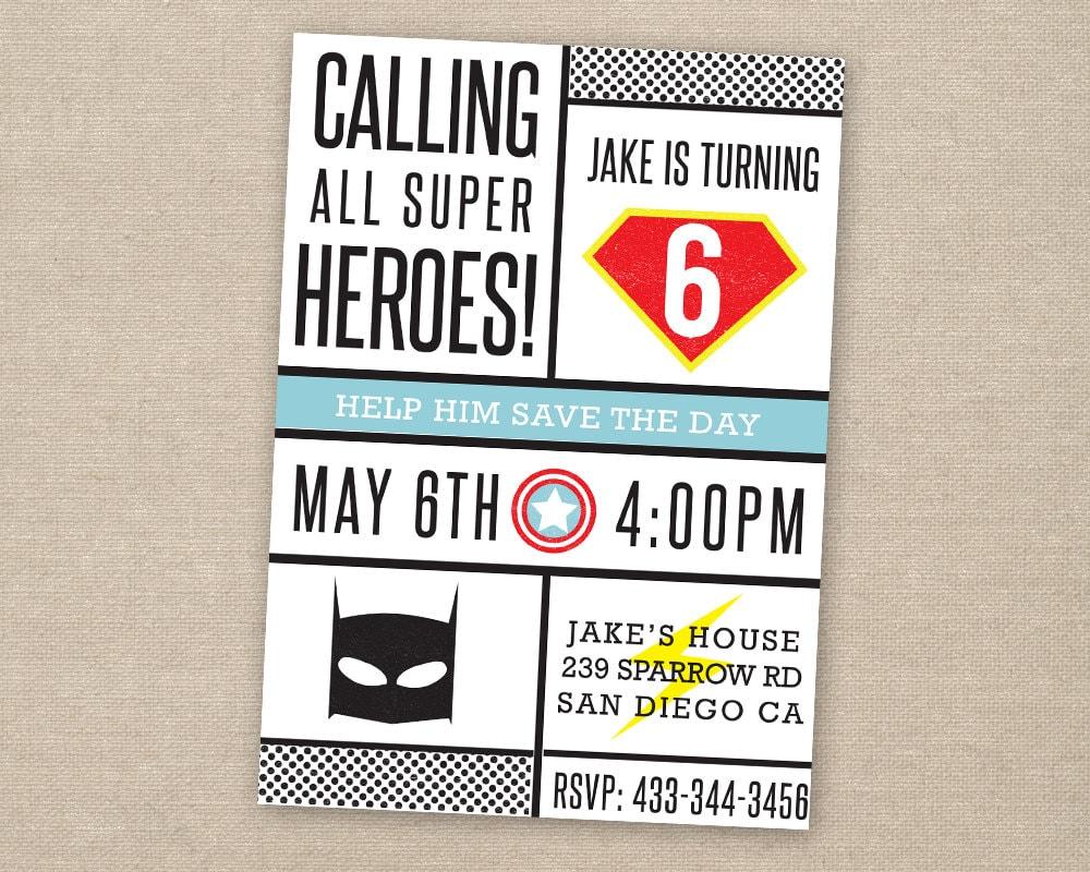 Tolle Kostenlose Superhelden Einladungsvorlage Zeitgenössisch ...
