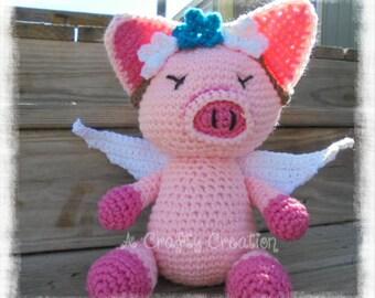 Stuffed Pig, Crochet Pig , Stuffed Animal Pig, Pig Plushie, Pig Toy, Stuffed Pig Toy, Pig IN STOCK