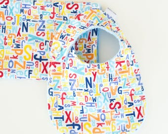Baby Boy Bib and Burp Cloth Set Crayola Alphabet