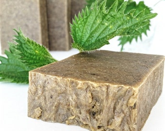 WILD NETTLE Soap, Vegan Soap, Handmade Soap, Artisan Soap, Hot Process Soap, Essential Oil Soap, All Natural, Coconut Oil Soap, AnnBoyar