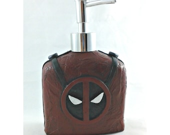 Deadpool Soap Dispenser, mixed media soap pump