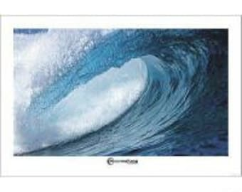 Wall Art, Wave Poster, Aaron Chang Waterdrops, out of print Surfing Poster 24 x 36