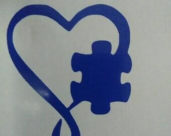 autism puzzle piece heart