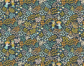Organic fabric, Meadow frolic, Birch organic fabric, baby fabric, floral, boho baby fabric, boho girl fabric, Hidden Garden, organic baby