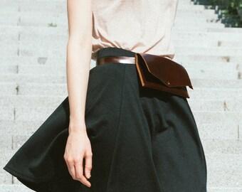 Belt bag leather brown, leather waist bag, leather waist pack, leather handmade belt bag, minimalist leather belt bag, belt pouch wallet
