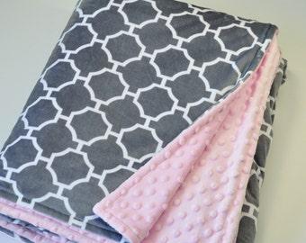 Minky adult blanket - Personalized adult minky blanket - Minky throw blanket - Gray adult minky blanket - Minky blanket adult - Minky Throw