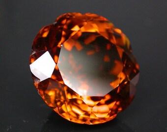 20.15 ctw. golden topaz loose gemstone.