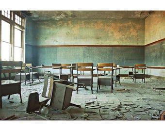 Abandoned Building Photography Detroit Art Urban Exploration Urbex Abandoned Photography Architecture Photography Blue Art Abandoned School