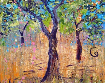 Tree Art Images - Dancing Trees - a  print