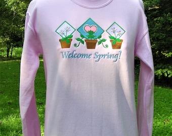 Welcome Spring! - Ladies' Spring Sweatshirt