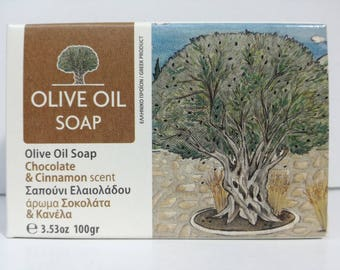 greek olive oil soap chocolate & cinamon
