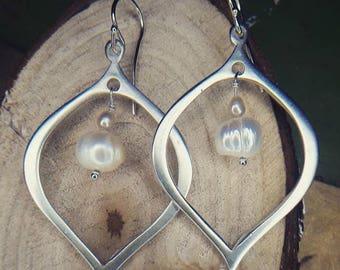 Silver lotus petal earring!