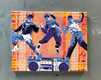 Beastie Boys Painting on Stretched Canvas - pre made and ready to ship - pictures show actual item you are purchasing.
