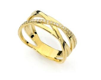 Diamond  ring - Diamond engagement ring, Gold and diamonds ring, Unique engagement ring