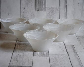 Lovely Set of Six Marbled Glass Dessert Bowls