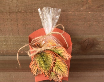 Thanksgiving Favors, Thanksgiving Party Favors, Leaf Party Favors, Fall Party Favors