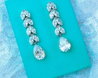 Crystal Rhinestone Bridal Earrings, Bridal Wedding Jewelry, Wedding Crystal rhinestone Earrings