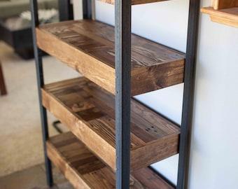 Pallet Wood and Metal Leg Bookshelf