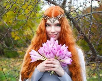 Wedding tiara - bridal diadem - Elven crown - Jewelry Diadem – fantasy circlet  fairy Tiara  bridal headband - fantasy fairy Tiara - Lorelei