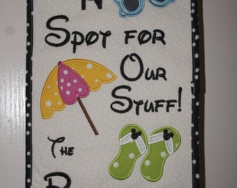 """Original Umbrella Spotter """"Beach Theme""""  For Your Disney Cruise Or Anywhere.  Don't Lose Your Spot Again"""