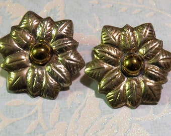 Vintage Taxco Mexico 925 Sterling Silver Flower Earrings