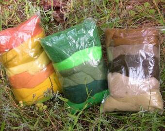 Needle Felting Pallettes - Merino Wool Roving