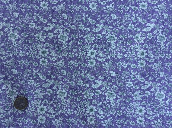 High quality cotton poplin printed in Japan, violet floral print