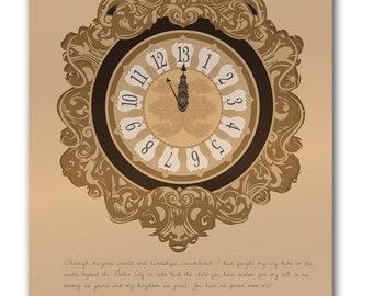 Labyrinth 13 O'clock Print 12x16