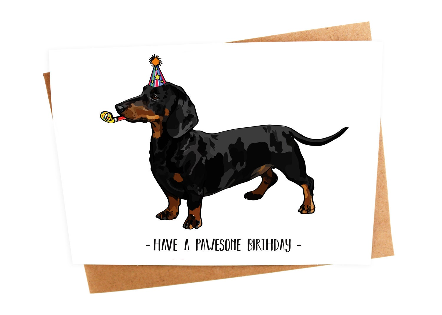 Dachshund sausage wiener dog illustration birthday greetings zoom kristyandbryce Choice Image