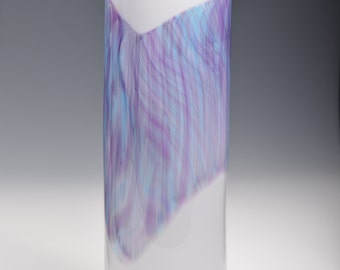Watercolor Series Hand Blown Art Glass Vase Handmade vases by Rebecca Zhukov