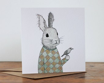 Rabbit with Bird - 'Rabbit with Bird