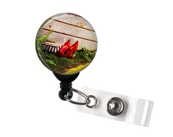 Witch Under House with Ruby Slippers, Retractable ID Badge Reel, Wizard of Oz