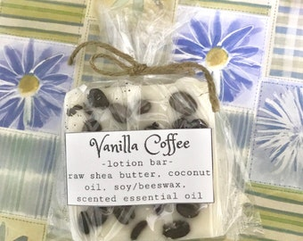 Vanilla Coffee massage lotion bar