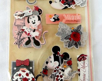 Die-cuts Disney 3D embellishment for scrapbooking, card making, crafting - Minnie