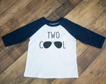 Two cool shirt, two year old birthday shirt
