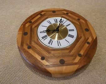 Clock , Wood clock,Handcrafted clock, wall clock,