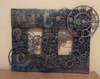 Mixed media steampunk  picture