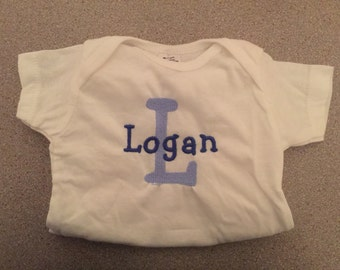 baby personalized monogrammed embroidered onesie