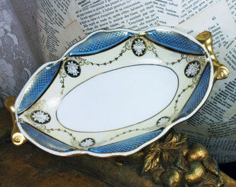 Vintage Noritake Japan Porcelain Serving Dish or Trinket Dresser Top Tray