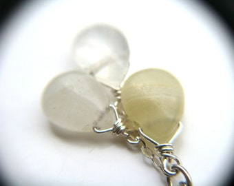 Yellow Agate Necklace Sterling Silver . Healing Crystals for Stress Relief Gifts . Natural Agate Necklace . Light Yellow Necklace