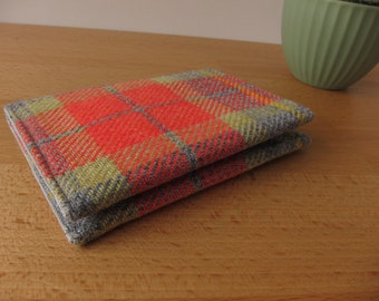 Vintage Wool Plaid Card Case
