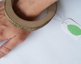 SALE Branch bracelet, Prunus wood 73 mm/2.7 inch