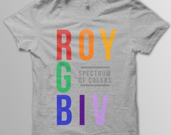 Toddler ROYGBIV Color Spectrum shirt Roy G Biv infant shirt